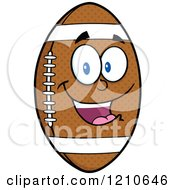 Cartoon Of A Happy American Football Mascot Royalty Free Vector Clipart