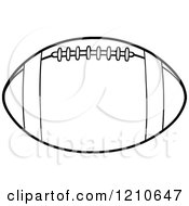Cartoon Of A Black And White American Football Royalty Free Vector Clipart