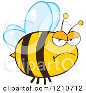 Cartoon Of A Mad Bee Royalty Free Vector Clipart by Hit Toon