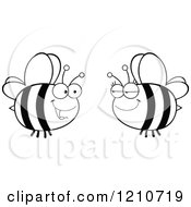 Black And White Happy Bee Couple