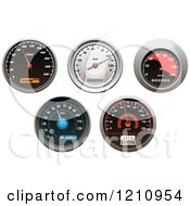 Clipart Of Vehicle Speedometers Royalty Free Vector Illustration