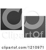 Clipart Of Seamless Texture Fiber Backgrounds Royalty Free Vector Illustration
