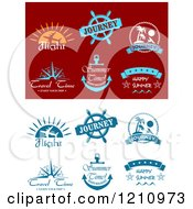 Clipart Of Travel Designs Royalty Free Vector Illustration