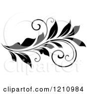 Clipart Of A Black And White Flourish Design 7 Royalty Free Vector Illustration