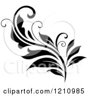 Clipart Of A Black And White Flourish Design 8 Royalty Free Vector Illustration