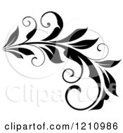 Clipart Of A Black And White Flourish Design 9 Royalty Free Vector Illustration