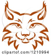 Clipart Of A Brown Bobcat Face 3 Royalty Free Vector Illustration by Vector Tradition SM