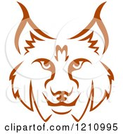 Clipart Of A Brown Bobcat Face 2 Royalty Free Vector Illustration by Vector Tradition SM