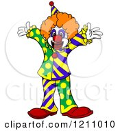 Clipart Of A Cheerful Party Clown Royalty Free Vector Illustration by Vector Tradition SM