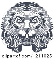 Clipart Of A Heraldic Lion Face Royalty Free Vector Illustration by Vector Tradition SM