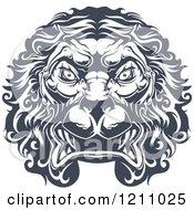 Heraldic Lion Face