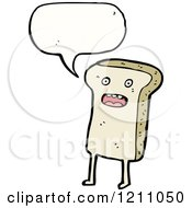 Cartoon Of A Bread Slice Speaking Royalty Free Vector Illustration by lineartestpilot