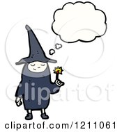 Cartoon Of A Child In A Witch Costume Speaking Royalty Free Vector Illustration by lineartestpilot