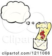 Cartoon Of A Thinking Bill Royalty Free Vector Illustration
