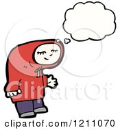 Cartoon Of A Child In A Hoodie Thinking Royalty Free Vector Illustration