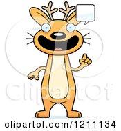 Cartoon Of A Talking Slim Jackalope Royalty Free Vector Clipart by Cory Thoman
