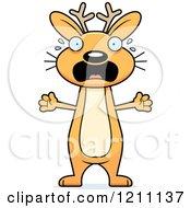 Cartoon Of A Drunk Slim Jackalope Royalty Free Vector Clipart