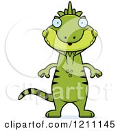 Cartoon Of A Surprised Slim Iguana Royalty Free Vector Clipart by Cory Thoman