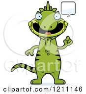 Cartoon Of A Talking Slim Iguana Royalty Free Vector Clipart by Cory Thoman