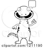 Black And White Talking Slim Salamander