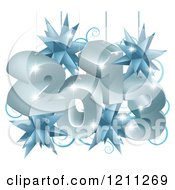 Clipart Of A New Year 2013 Suspended With Christmas Star Ornaments Royalty Free Vector Illustration