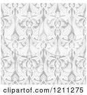 Seamless Grayscale Art Nouveau Pattern