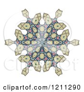 Clipart Of A Kaleidoscope Arabic Floral Pattern Royalty Free Vector Illustration