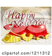 3d Happy New Year Greeting Over 2014