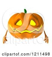 Clipart Of A 3d Halloween Jackolantern Royalty Free CGI Illustration by Julos