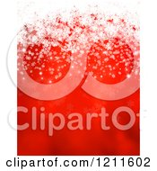 Clipart Of A Red Christmas Background With White Snowflakes Royalty Free Vector Illustration