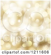 Clipart Of A Background Of Golden Bokeh Lights And Stars Royalty Free CGI Illustration