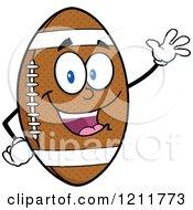 American Football Mascot Waving
