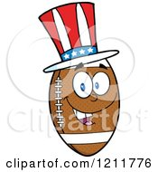 American Football Mascot Wearing A Patriotic Hat