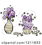 Cartoon Of A Magical Clay Jar Royalty Free Vector Illustration