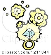 Cartoon Of A Diamond Ring Royalty Free Vector Illustration by lineartestpilot
