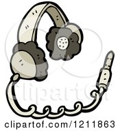 Cartoon Of Headphones Royalty Free Vector Illustration by lineartestpilot