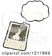 Cartoon Of A Photo Of A Thinking Ghost Royalty Free Vector Illustration by lineartestpilot