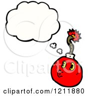 Cartoon Of A Cannonball Thinking Royalty Free Vector Illustration by lineartestpilot