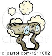 Cartoon Of Binoculars Royalty Free Vector Illustration