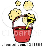 Cartoon Of A Sand Pail And Shovel Royalty Free Vector Illustration