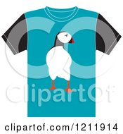 Clipart Of A T Shirt With A Penguin Royalty Free Vector Illustration by Lal Perera