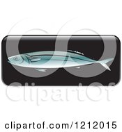 Clipart Of A Black Fish Icon 4 Royalty Free Vector Illustration
