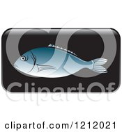 Clipart Of A Black Fish Icon 2 Royalty Free Vector Illustration