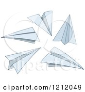 Cartoon Of Paper Planes Royalty Free Vector Clipart