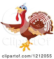 Cute Turkey Bird Presenting