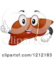 Cartoon Of A Healthy Liver Organ Mascot Holding A Thumb Up Royalty Free Vector Clipart
