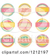 Cartoon Of Pastel Laundry Room Labels Royalty Free Vector Clipart by BNP Design Studio