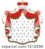 Clipart Of A Crown And Royal Mantle With Red Drapes Royalty Free Vector Illustration