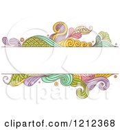 Cartoon Of A Text Box Over Abstract Colorful Scales And Splashes Royalty Free Vector Clipart by BNP Design Studio