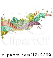 Cartoon Of An Abstract Wave Of Swirls On White Royalty Free Vector Clipart